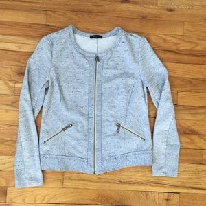 Anthropologie DREW Grey Cotton Blend Jacket